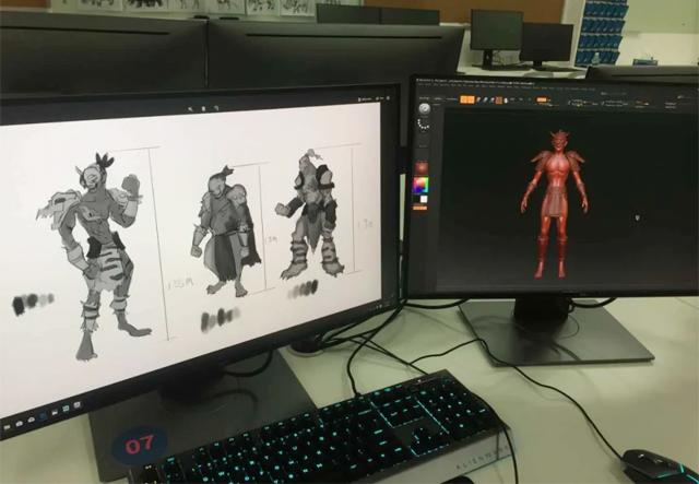 广东岭南现代技师学院动漫设计专业